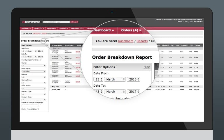 Order Breakdown Report