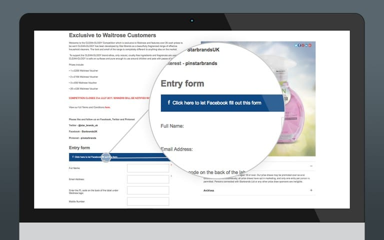 Facebook Advanced Competition Signup
