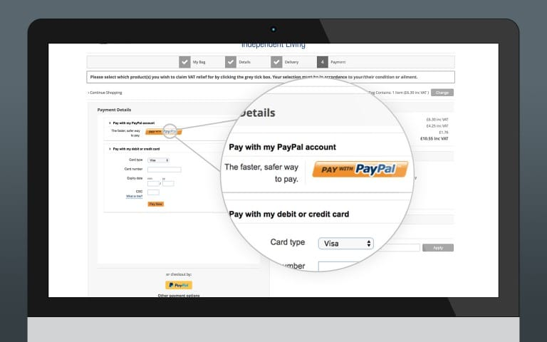 PayPal Payments Pro Integration (Primary Payment Gateway)