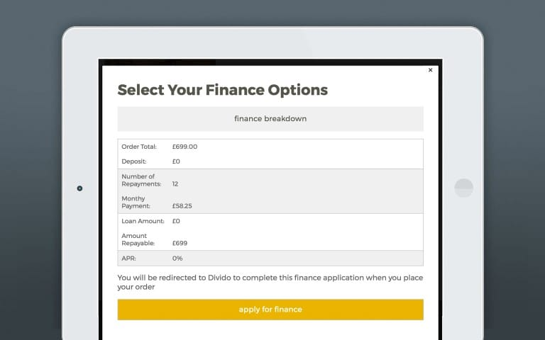 Divido Retail Finance Integration