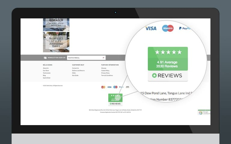 Reviews.io Footer Link