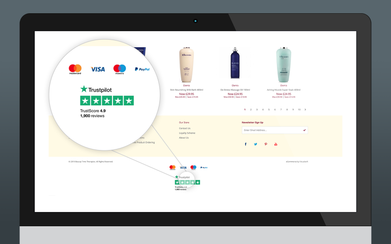 Trustpilot Integration - Store Reviews + Footer Link
